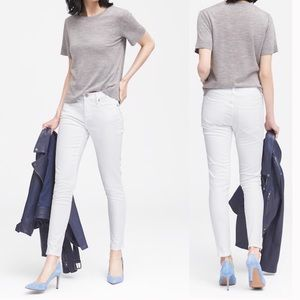 Banana Republic White Denim Ankle Skinny Jeans